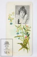 Old Modernist Trading Card / Chromo Flower - Bugloss & Model - Jaime Boix Nº 58 - Documentos Antiguos