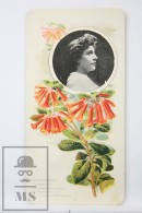 Old Modernist Trading Card / Chromo Flower - Rhododendron & Model - Jaime Boix Nº 59 - Documentos Antiguos