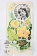 Old Modernist Trading Card / Chromo Flower - Water Lilly & Model - Jaime Boix Nº 71 - Documentos Antiguos