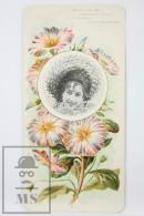 Old Modernist Trading Card / Chromo Flower - Tricolour Convolvulus & Model - Jaime Boix Nº 72 - Documentos Antiguos