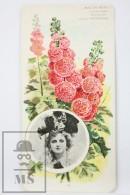 Old Modernist Trading Card / Chromo Flower - Mallow & Model - Jaime Boix Nº 81 - Documentos Antiguos