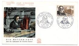 Enveloppe Premier Jour  / Elie Metchnikoff / Paris  / 9 Juillet 1966 - 1960-1969