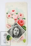 Old Modernist Trading Card / Chromo Flower - Daisy & Model - Jaime Boix Nº 86 - Documentos Antiguos