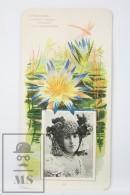 Old Modernist Trading Card / Chromo Flower - Blue Lotus & Model - Jaime Boix Nº 88 - Documentos Antiguos