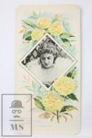 Old Modernist Trading Card / Chromo Flower - Kerria Japonica & Model - Jaime Boix Nº 91 - Documentos Antiguos