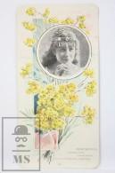 Old Modernist Trading Card / Chromo Flower - Immortelle & Model - Jaime Boix Nº 98 - Documentos Antiguos