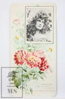 Old Modernist Trading Card / Chromo Flower - Opium Poppy & Model - Jaime Boix Nº 99 - Documentos Antiguos
