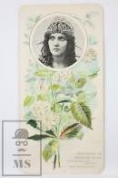 Old Modernist Trading Card / Chromo Flower - Rubus Rosifolius & Model - Jaime Boix Nº 100 - Documentos Antiguos