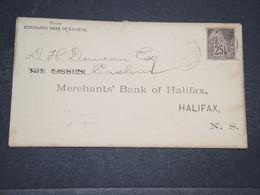 SAINT PIERRE & MIQUELON - Enveloppe De Saint Pierre Pour Halifax En 1890 , Affranchissement Colonies Générales - L 16582 - St.Pierre Et Miquelon