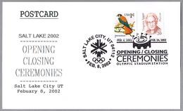 2002 WINTER OLYMPICS. OPENING-CLOSING CEREMONIES. Salt Lake City UT 2002 - Winter 2002: Salt Lake City