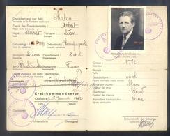 AUSWEIS - LAISSER-PASSER - D'un IMPRIMEUR -  1942 - 1943 - De LAIVES (71 - SÂONE ET LOIRE) - Documenti
