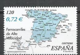 Spain 2001. Scott #3131c (U) Map Showing High-speed Train Lines * - 2001-10 Oblitérés