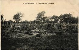 MENNEVRET (02) Le Cimetière Militaire - Rare - Très Bon état  - Dos Vert - Belle Carte écrite Au Verso - Other Municipalities
