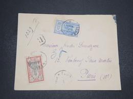INDE - Enveloppe En Recommandé De Pondichery Pour Paris En 1926 , Affranchissement Plaisant - L 16584 - India (1892-1954)
