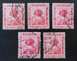 PROTECTORAT BRITANNIQUE - SPHINX DE GISEH 1922 - OBLITERES - YT 60 - VARIETES DE TEINTES ET D'OBLITERATIONS - Égypte