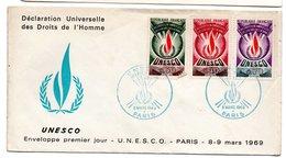 Enveloppe Premier Jour  / UNESCO / Paris / 8 Mars 1969 - 1960-1969