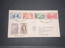 INDE - Série De L 'Exposition Internationale De 1937 Sur Enveloppe En Recommandé De Pondichery Pour Les USA - L 16586 - India (1892-1954)