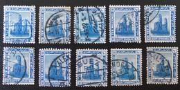 PROTECTORAT BRITANNIQUE - COLOSSE DE MENNON 1922 - OBLITERES - YT 62 - VARIETES DE TEINTES ET D'OBLITERATIONS - Égypte