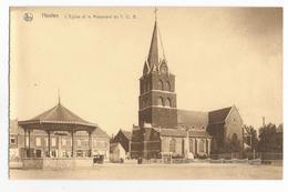 Halen De Kerk Oude Postkaart Haelen - Halen
