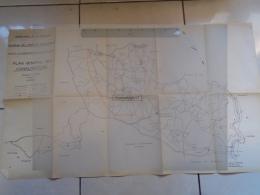 24 261 MAZEYROLLES - LAVAUR FONTENILLE 1962 PLAN ALIMENTATION EN EAU POTABLE FONTENILLE AIGUEPARSE LOUBEJAC SAVETERRE - Opere Pubbliche