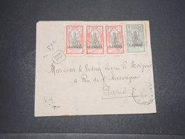 INDE - Enveloppe En Recommandé De Pondichéry Pour La France En 1927 , Affranchissement Plaisant - L 16590 - India (1892-1954)