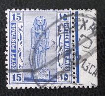 PROTECTORAT BRITANNIQUE - STATUE DE RAMSES II 1922 - BELLE OBLITERATION - YT 64 - BORD DE FEUILLE - 1915-1921 Protectorat Britannique
