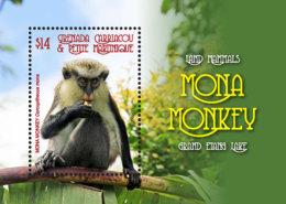 Grenada Grenadines  2018 Fauna Animals Land Mammals Mona Monkeys I201805 - Grenada (1974-...)