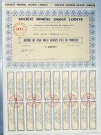 SOCIETE MINIERE OGOUE LOBAYE /  A.E.F. (Actuel Centrafique) - Berberati - Soci - Mines