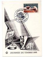 Carte Premier Jour  /Journée Du Timbre / Saint Malo / 19-3-66 - Cartes-Maximum