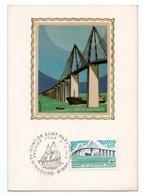 Carte Premier Jour  / Pont De Saint Nazaire  / Saint Nazaire / 8-11-75 - Cartes-Maximum