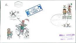 Israel FDC 1997, Miguel De Cervantes, Don Quijote Und Sancho Pansa, Michel 1416 (2-171) - FDC