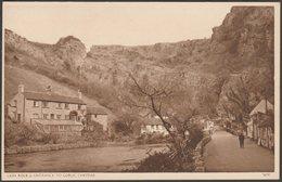 Lion Rock & Entrance To Gorge, Cheddar, Somerset, C.1930s - Postcard - Cheddar