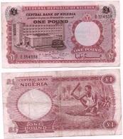 Nigeria - 1 Pound 1967 VF Serie B/96 Ukr-OP - Nigeria