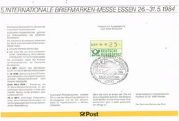 28561. Hoja Souvenir ESSEN (alemania Federal) 1984. Tag Del UNO.  ONU Palacio Naciones - [7] República Federal