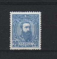 1869 Belgisch Congo Leopold 20 Fr. Blauw Ongebruikt - Altri