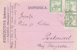 Yugoslavia SHS Private Stationery Koscec Pharmacy Nasice 1920 - 1919-1929 Kingdom Of Serbs, Croats And Slovenes
