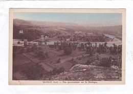 (CPA : 14 X 9)  -  GLUGES  -  Vue Panoramique Sur La Dordogne - Frankrijk