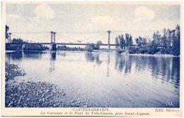82 CASTELSARRASIN - La Garonne Et Le Pont De Trés-Cassés, Près Saint-Aignan - Castelsarrasin