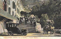 Etablissement Thermal De La Preste (Pyrénées Orientales) - Escalier D'Entrée, Diligence Et Tacot - Autres Communes