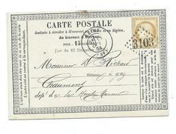 REIMS Marne   - Gros Chiffre 3103 Sur Carte Postale Precurseur - Marcophilie (Lettres)