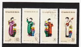 AUA1042 KOREA NORD 1961 Michl 185/88 Gestempelt SIEHE ABBILDUNG - Korea (Nord-)