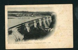 CPA: 21 - LE BARRAGE DE PONT (PRÈS SEMUR) - VUE PRISE DE LA COLLINE - 1902 - - Semur
