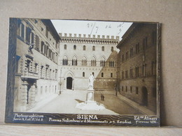 MONDOSORPRESA, FOTO (PRIMI 900), SIENA, ED. ALINARI 1896, PIAZZA SALIMBENI E IL MONMENTO A SAN BANDINI - Foto