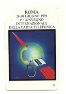 Italia - Tessera Telefonica Da 10.000 Lire N. 133 - Convegno Internazionale, - Italia