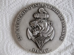 Médaille 23e Bataillon D'Infanterie De Marine DAKAR - Army & War