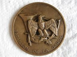 Médaille Bataillon De La Garde . 24e Groupe De Chasseurs , Attribué à Morel 1979 - Militaria