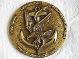 Médaille  9e Antenne Chirurgicale Aerotransportable Tchad  Juin Octobre 1988 - Militaria