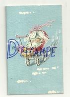 Mignonnette Double. Baptême. Charleroi église Du Vieux-Campinaire 1967. Bébé,poussette, Biberon, Nounours. 7/11 Cm - Illustrateurs & Photographes