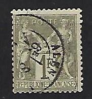 "FR YT 72 "" Sage Type I 1F. Bronze "" 1876 Cachet à Date ALENCON - 1876-1878 Sage (Type I)"