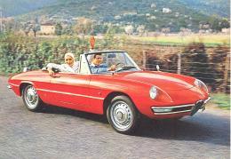 Alfa Romeo Spider 1600 - Ansichtskarten